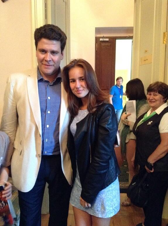 Вероника с пианистом Денисом Мацуевым