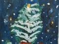 Новогоднее чудо - Кондратенко Маргарита (бумага, гуашь)