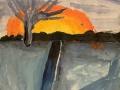 Полярная ночь - Драб Анна (бумага, гуашь)