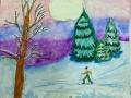 Зимняя Прогулка - Воропаева Варвара (бумага, гуашь, акварель)
